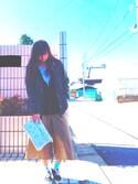 若井 加奈子さんの「VANS ヴァンズ ERA エラ V95CLA BLACK(VANS バンズ)」を使ったコーディネート