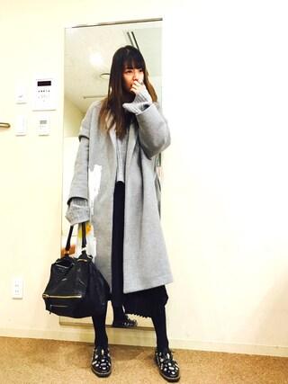 「CLAIRE COCOON COAT(AMERI)」 using this スザンヌ looks