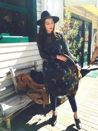 「BOTANICAL PRINT DRESS(AMERI)」 using this スザンヌ looks