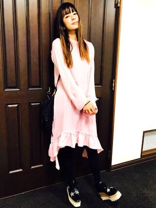 「(MARCO BIANCHINI) 14087 FRINGE TRIM SMAL SHOULDER BAG(ROSE BUD)」 using this スザンヌ looks