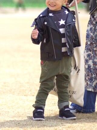 スザンヌさんの「【JEREMY SCOTT】 [JS KID BIKER JKT](adidas Originals by JEREMY SCOTT|アディダスオリジナルスバイジェレミースコット)」を使ったコーディネート