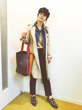 「<スザンヌさんコラボ>ラブ&ピースプロジェクト コンパクトデニムジャケット(haco!)」 using this スザンヌ looks