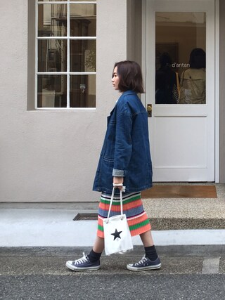 「CONVERSE TOKYO バケットポーチバッグ◆(SLOBE IENA)」 using this Mai Miyadokoro looks