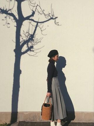 Mai Miyadokoroさんの「ギンガムプリーツスカート(JILLSTUART|ジルスチュアート)」を使ったコーディネート