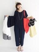 tama_hacoさんの「さっと羽織るのにちょうどいい ラッフルスリーブジャケット(haco!|ハコ)」を使ったコーディネート