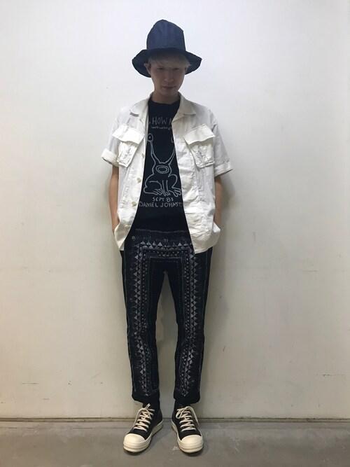 広原由也さんの「Sacai - プリント Tシャツ - women - コットン - 3(Sacai)」を使ったコーディネート