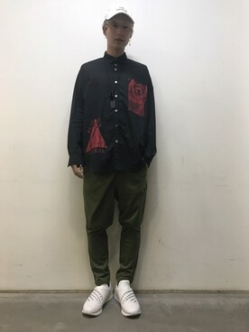 MIDWEST NAGOYA MEN|広原由也さんの「REFLECTOR MONTE Z by ANREALAGE(ANREALAGE)」を使ったコーディネート
