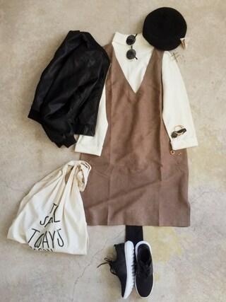 ナチュラル服のイタフラさんの「マルシェバッグ / Marche Bag(CIBONE|シボネ)」を使ったコーディネート
