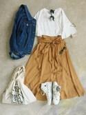 ナチュラル服のイタフラさんの「マルシェバッグ / Marche Bag(TODAY'S SPECIAL|トゥデイズスペシャル)」を使ったコーディネート