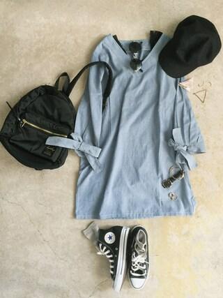 「converse コンバース ALL STAR HI オールスター ハイ 3206 BLACK(US)(CONVERSE)」 using this ナチュラル服のイタフラ looks