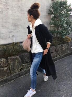 yukoさんの「シャギーロングコート(TODAYFUL|トゥデイフル)」を使ったコーディネート