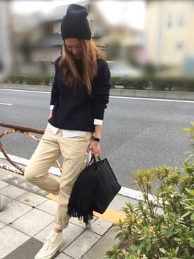 yukoさんの「【追加予約】<TEMBEA(テンベア)> PLAY トートバッグ M†(UNITED ARROWS|ユナイテッドアローズ)」を使ったコーディネート