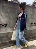 yukoさんの「オリジナルス トラックトップジャージ [NAVY TRACK TOP](adidas|アディダス)」を使ったコーディネート
