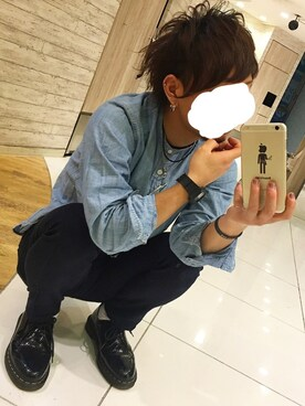 「MEN リネンコットンスタンドカラーシャツ(半袖)(ユニクロ)」 using this とも looks