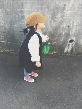 keemiiiiiさんのワンピース「スエードジャンパースカート(petit main|プティマイン)」を使ったコーディネート