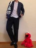 nanase (フォロバ)さんの「WEGO/ストレッチサテンテーラードジャケット(WEGO|ウィゴー)」を使ったコーディネート