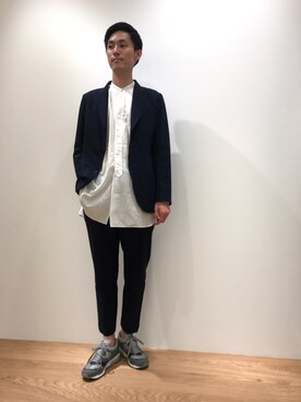 Bshop 神戸本店|大東 慎矢さんのテーラードジャケット「3Bシャツジャケット PVS MEN(Morris & Sons|モリスアンドサンズ)」を使ったコーディネート