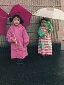 まるこ。とその仲間たちさんの「RAIN COAT (スター)(READY MADES|レディーメイド)」を使ったコーディネート