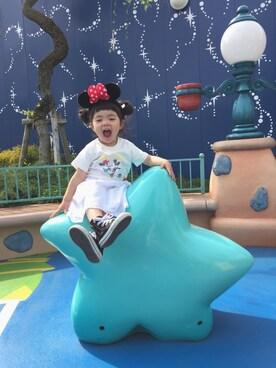 RIRIRIO★さんの「Disney|ビーミング by ビームス /  ミッキーマウス MALIBU Tシャツ 17SS(Disney|ディズニー)」を使ったコーディネート