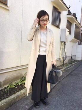mizuhoさんの「CHESS ホールガーメントVネックプルオーバー◆(IENA|イエナ)」を使ったコーディネート