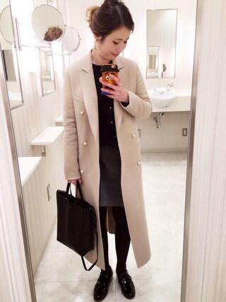 mizuhoさんの「《追加予約》ブレンドビーバー台形スカート◆(IENA|イエナ)」を使ったコーディネート
