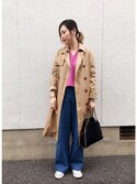 mizuhoさんの「《追加予約》コットンストレッチ コクーンVネック袖付きプルオーバー◆(IENA|イエナ)」を使ったコーディネート