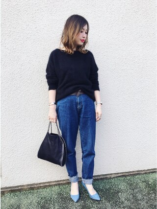 mizuhoさんの「【SOMETHING for ADAM ET ROPE'】別注FRENCH NOUVEAU W-FRONT SLIM(SOMETHING|サムシング)」を使ったコーディネート