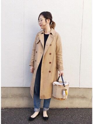 mizuhoさんの「トレンチコート(TODAYFUL|トゥデイフル)」を使ったコーディネート