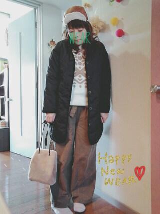 maikoさんの「同布ベルト付きワイドパンツ(grove グローブ)」を使ったコーディネート