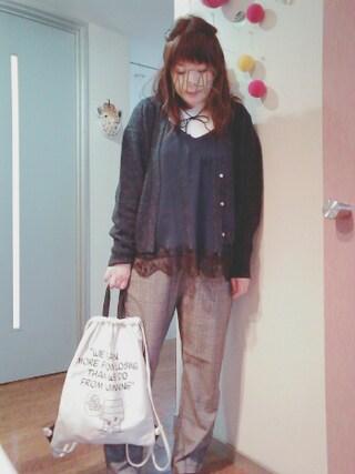 maikoさんの「アゼ編みカーディガン(coen コーエン)」を使ったコーディネート