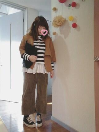 maikoさんの「ラムナイロンショートガウン(coen|コーエン)」を使ったコーディネート