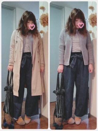 maikoさんの「WEGO/ベロア巾着トートバッグ(WEGO|ウィゴー)」を使ったコーディネート