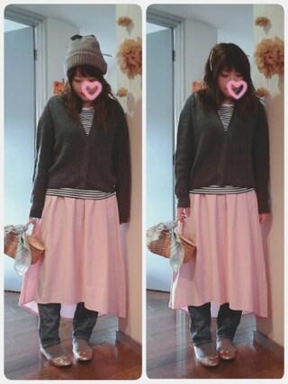 maikoさんの「イレギュラーヘムスカート(HusHusH|ハッシュアッシュ)」を使ったコーディネート