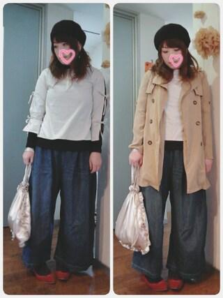 maikoさんの「フリルパールカラーバッグ 2243(merlot plus|メルロープリュス)」を使ったコーディネート