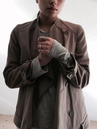 「Rag & bone Mélange Cotton-Blend Jersey Henley T-Shirt(Rag & Bone)」 using this MIN looks