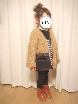 momii☆*さんの「スムース生地 ハイネックプルオーバー(3can4on|サンカンシオン)」を使ったコーディネート