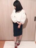 「オーガンジー刺繍バルーントップス(PAGEBOY)」 using this ねむり looks