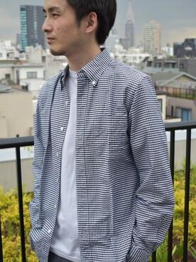 SONTAKU|SONTAKU小林さんの「洗いざらしオックスフォードギンガムチェックBDシャツ(SONTAKU)」を使ったコーディネート