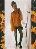 「Women's Topshop Lattice Back Sweater(TOPSHOP)」 using this Amber Wegener looks