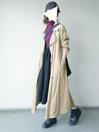 「【Lady like】テンセルロングトレンチコート(Ungrid)」 using this kiii. looks