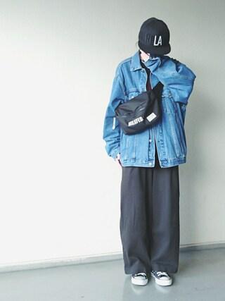 「BASIC BODY BAG(MILKFED.)」 using this kiii. looks