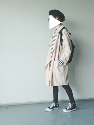 「ANAP BIGカラーミディアム丈ルーズコート(ANAP)」 using this kiii. looks