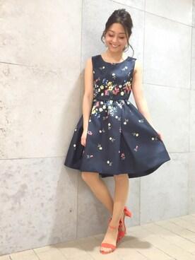 31 Sons de mode♡|Haruka.さんの「パネルプリントワンピース(31 Sons de mode|トランテアン ソン ドゥ モード)」を使ったコーディネート
