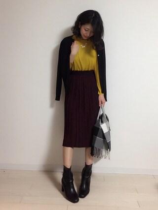 yuiさんの「ロングプリーツスカート(fifth|フィフス)」を使ったコーディネート