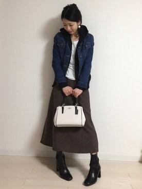yui  さんの「WOMEN デニムジャケット(ユニクロ)」を使ったコーディネート
