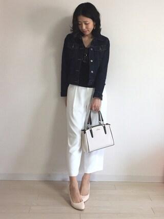yui  さんの「WOMEN デニムジャケット(ユニクロ|ユニクロ)」を使ったコーディネート