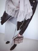 Ritaさんの「ラップフレアロングスカート(GRACE CONTINENTAL|グレースコンチネンタル)」を使ったコーディネート
