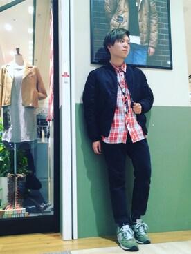 AVIREX 梅田|takuroさんのシャツ/ブラウス「avirex/ アヴィレックス / PATCHED CHECK SHIRT/ パッチド チェックシャツ(AVIREX|アヴィレックス)」を使ったコーディネート