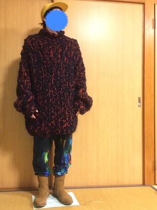 パスト代理人さんの「BED J.W. FORD Big Knit.(CANNABIS|カンナビス)」を使ったコーディネート