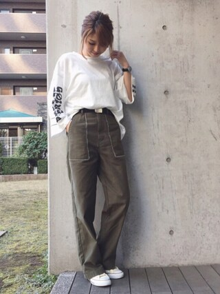 「GOING PLACES LS TSJ(MOUSSY)」 using this mana looks
